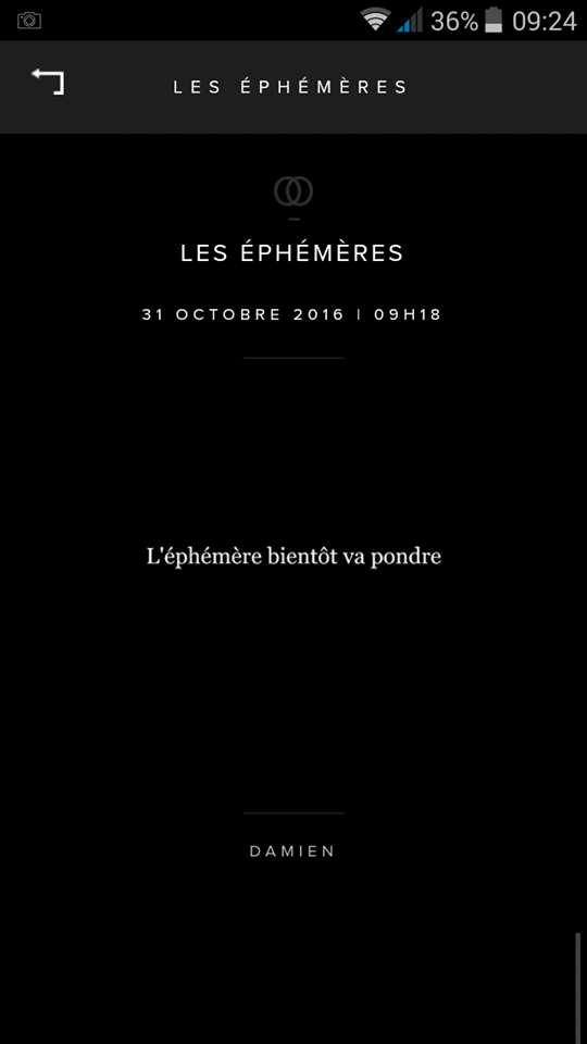 Ephémère Damien Saez 31 Oct 2016
