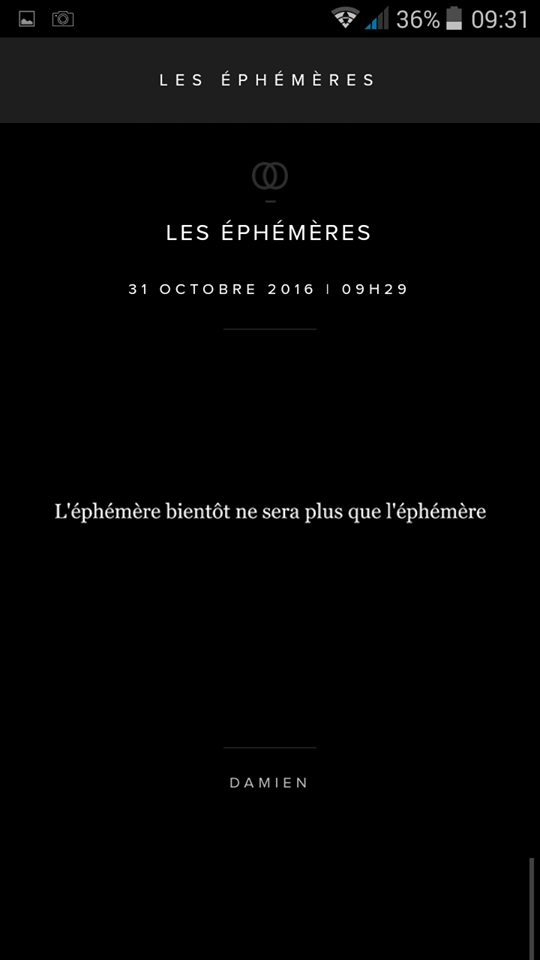 Ephémère Damien Saez Oct 2016
