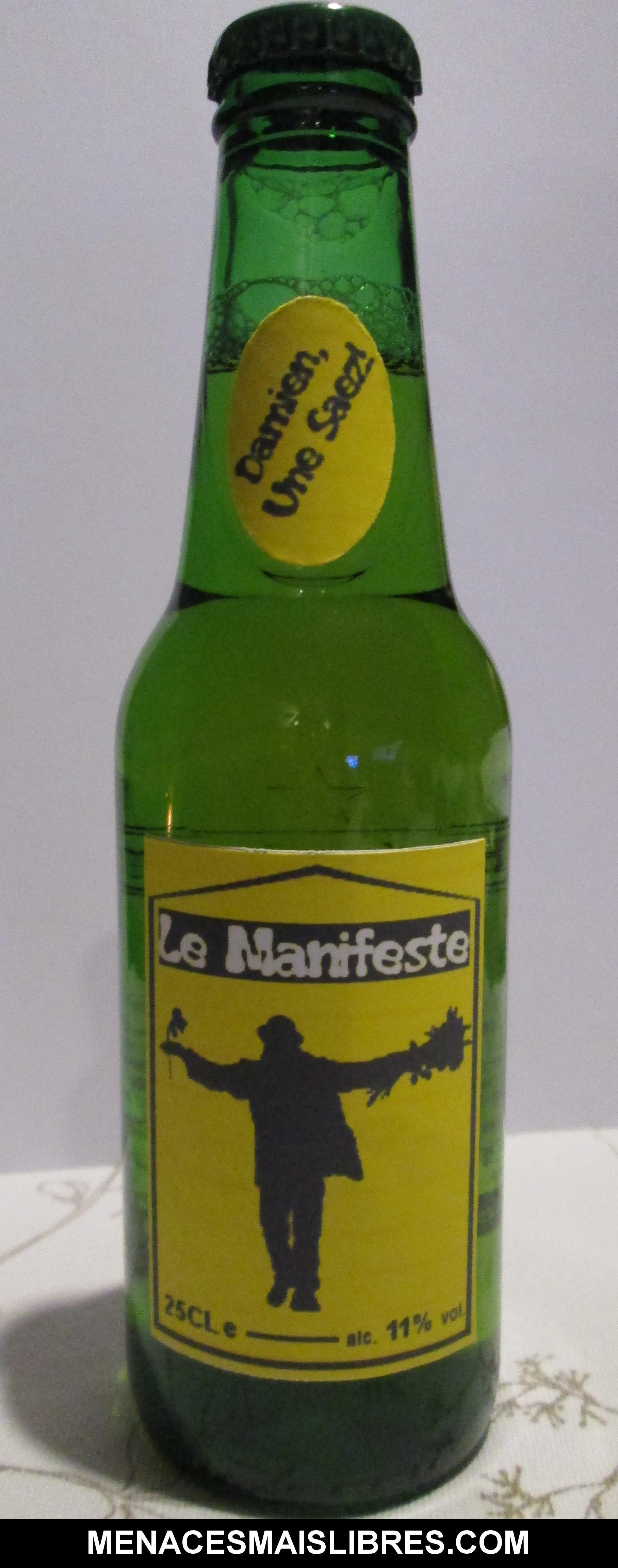 """Bière """"Le Manifeste"""" - L'abus d'alcool est dangereux pour la santé"""
