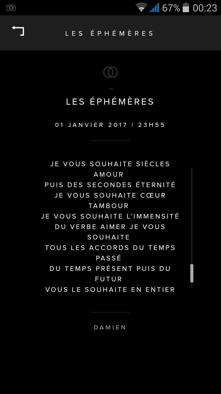 Damien Saez je vous souhaite 1er janvier voeux