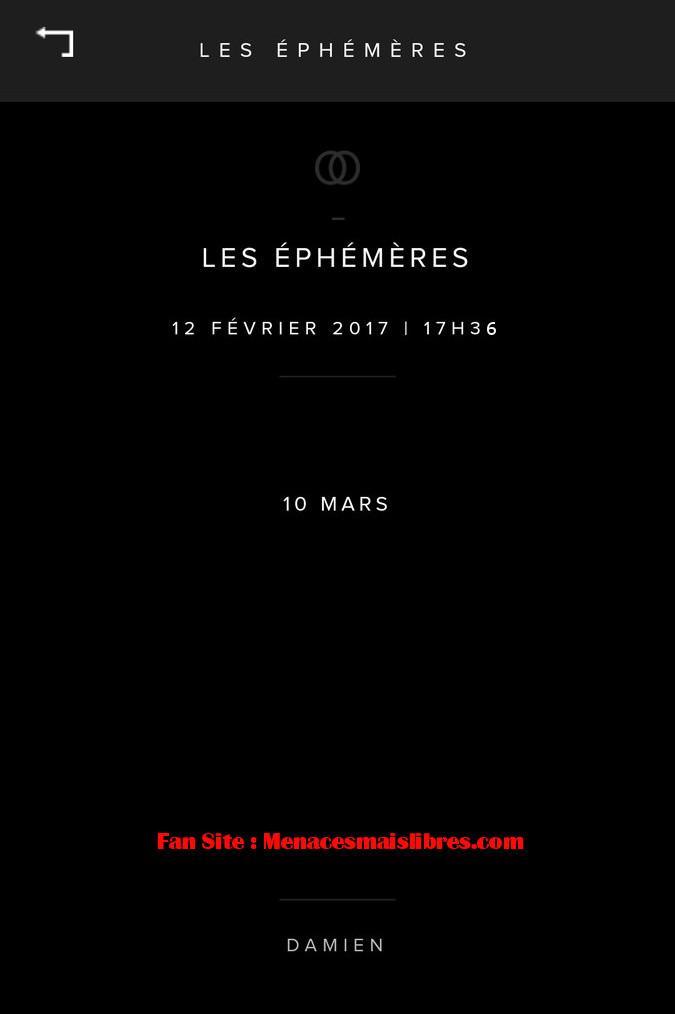 ephemere damien Saez 10 mars