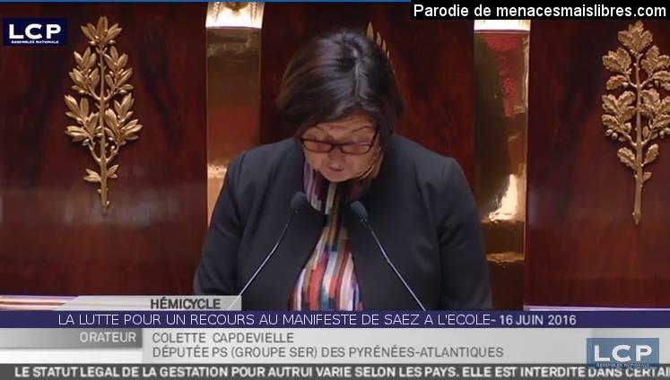 """Parodie : """"Recours pour le Manifeste de Saez à l'école"""""""
